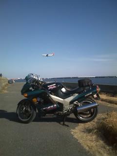 青空と飛行機とZZR